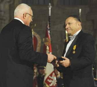President Václav Klaus awarded State Decoration to Karel Raška, Jr.